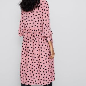 Zara Dresses - ZARA Pleated Polka Dot Dress